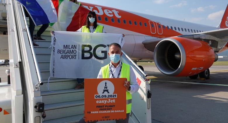 Bergamo easyJet flight